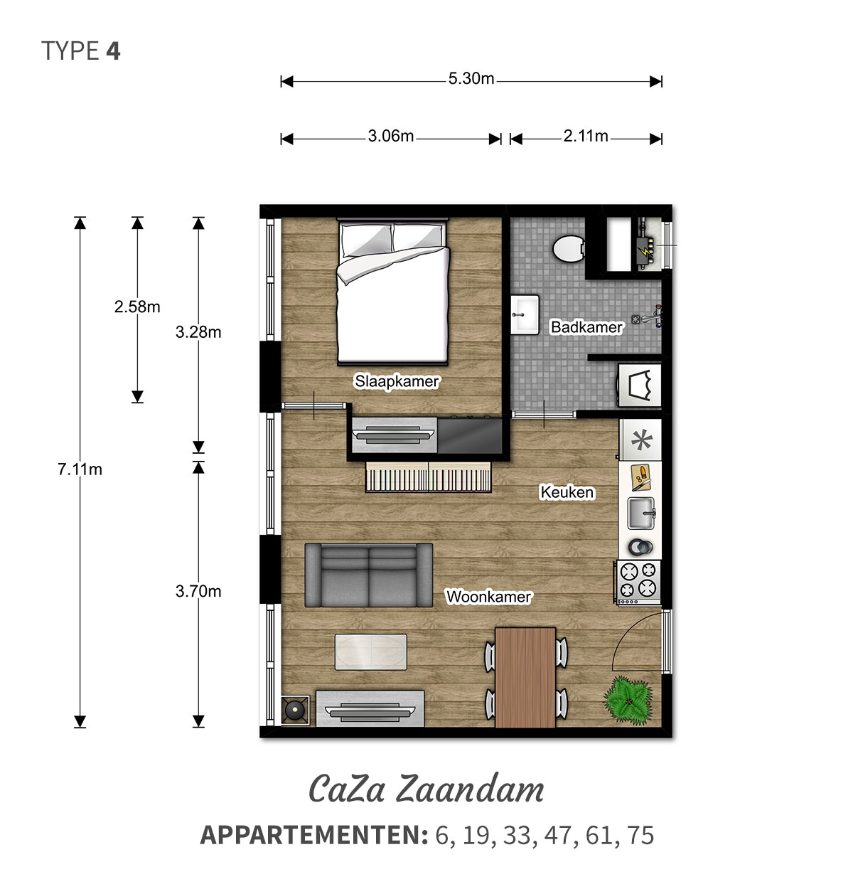 Een ruime woning met prachtig uitzicht - 2 kamer comfort appartementen