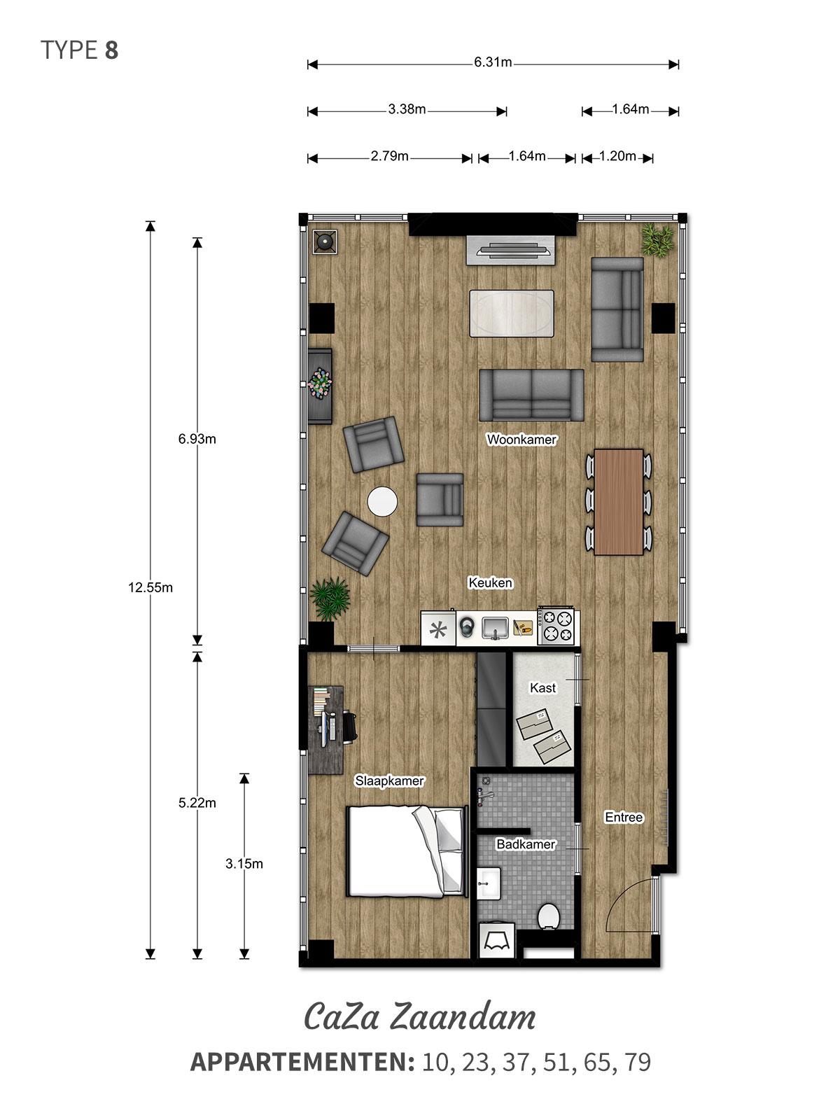 Een ideale woning met prachtig uitzicht - 2 kamer luxe